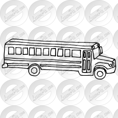 svg black and white library Outline for classroom therapy. School bus black and white clipart