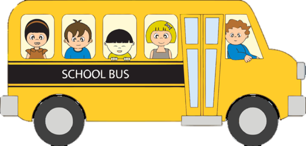 black and white stock School Bus Van Clipart Png Transparent