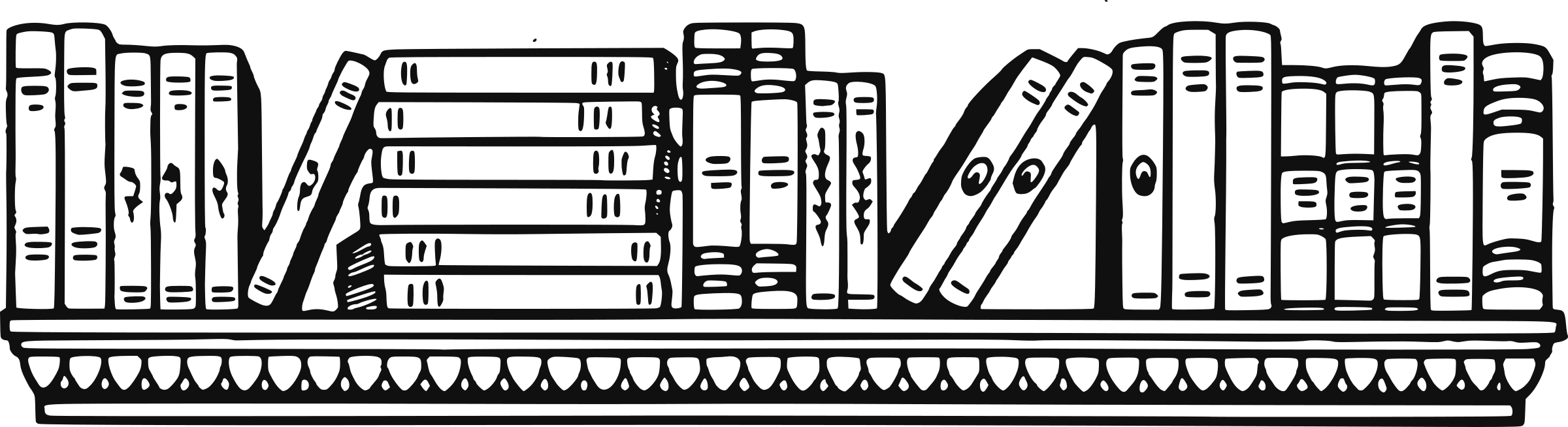 clip black and white library Clipart Bookshelf