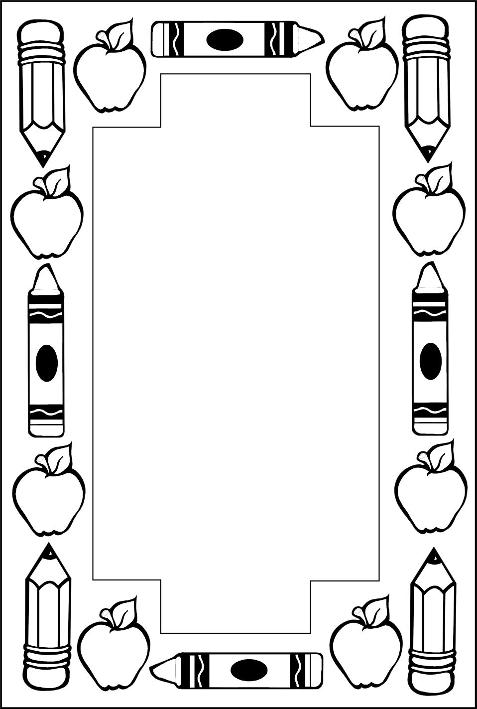 png black and white stock School clipart borders. Border free stock photo