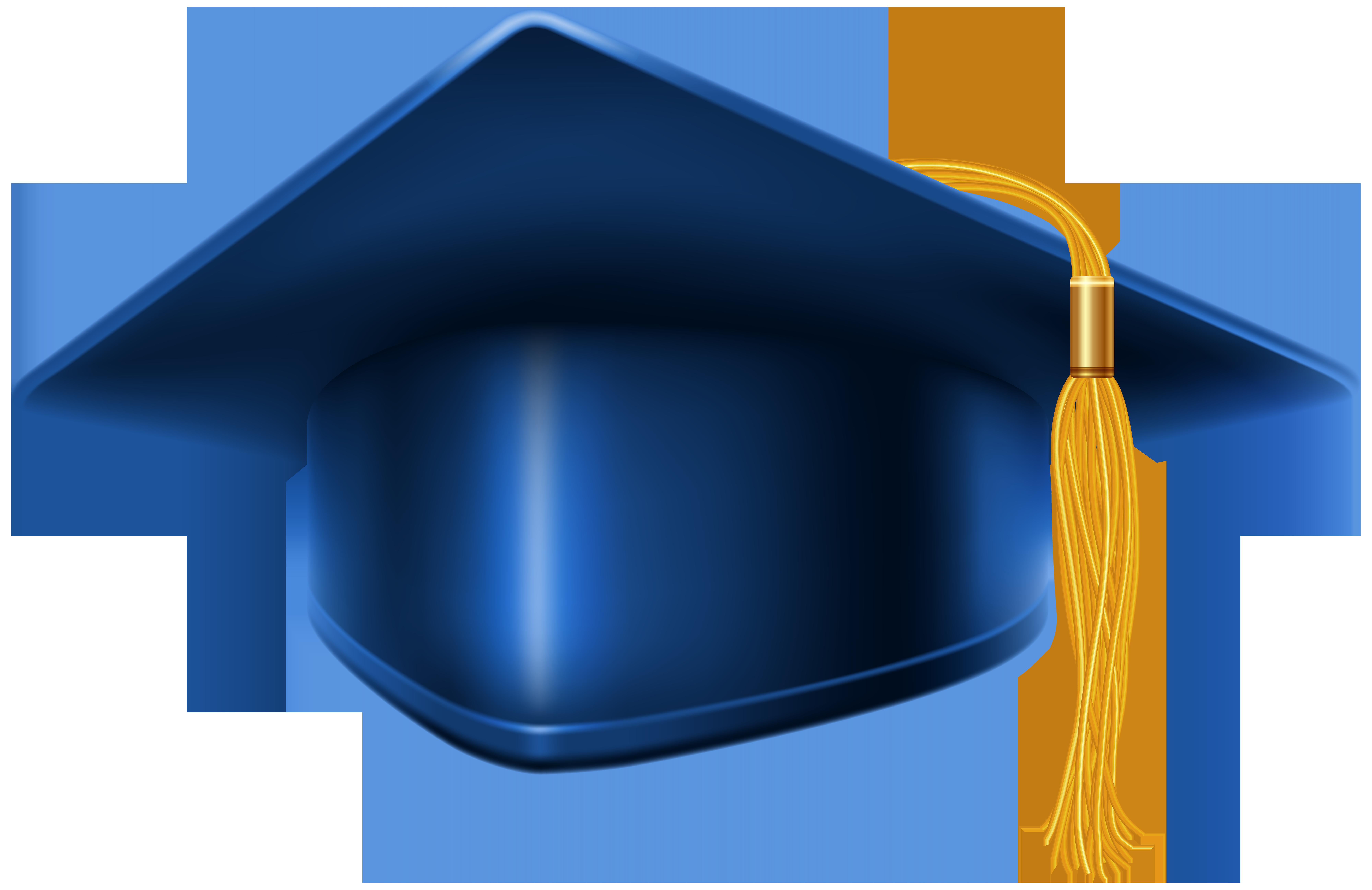image royalty free Blue Graduation Cap PNG Clip Art Image
