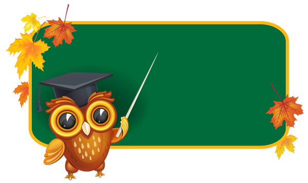 graphic library stock Owl with School Board PNG Clipart Image