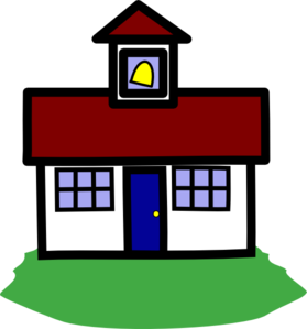 graphic royalty free School house clip art. Schoolhouse clipart.