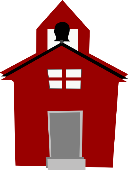 picture transparent download Red clip art at. Schoolhouse clipart.
