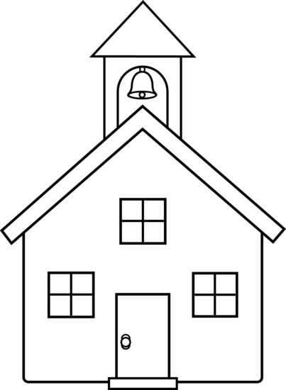 png royalty free Schoolhouse Outline Clipart