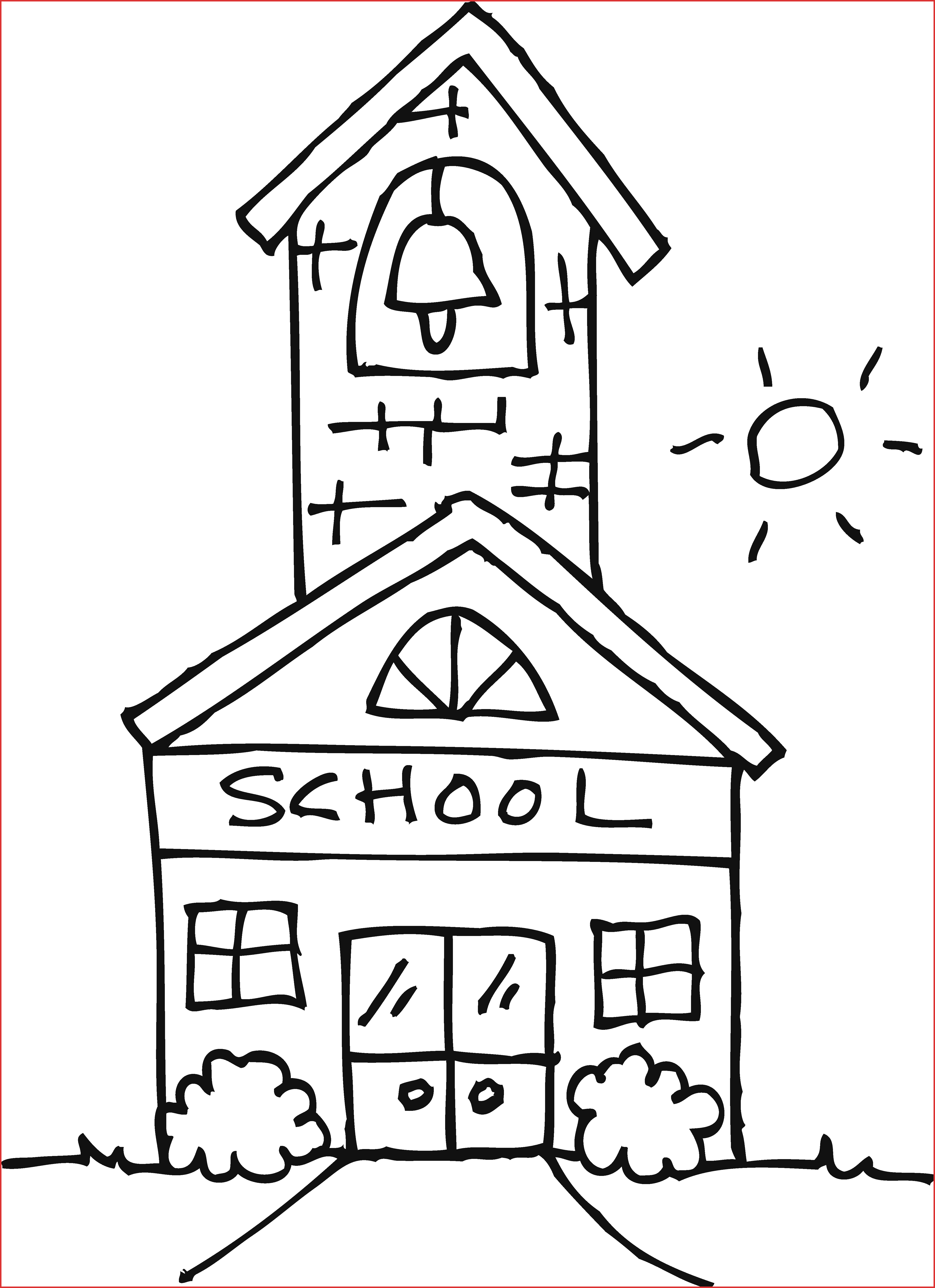 jpg freeuse library Unique School House Clipart
