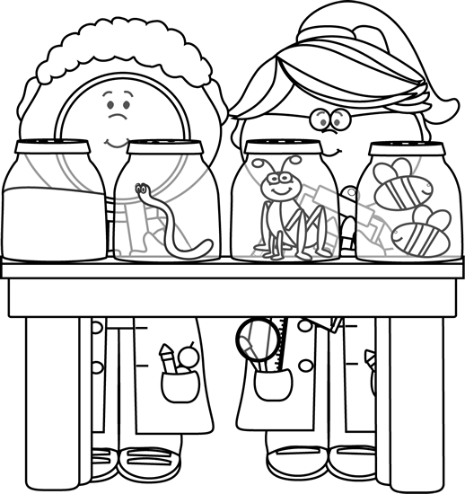 free library Image of. Science clipart black and white