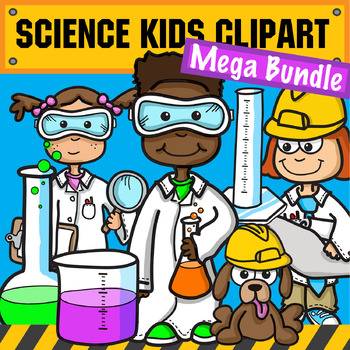 clip art black and white Stem mega bundle . Science clipart for kids