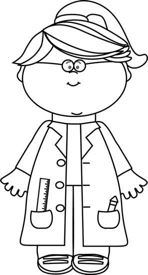 clipart transparent Science clipart black and white. Girl scientist patrones pinterest