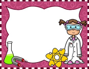 clip art library stock Science kids clipart. Borders frames set