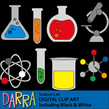 jpg black and white Science lab clipart. Clip art