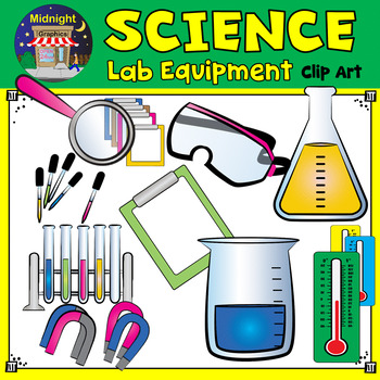 picture black and white Science lab equipment clipart.