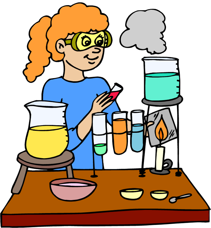 jpg stock Science lab safety clipart. Experiment