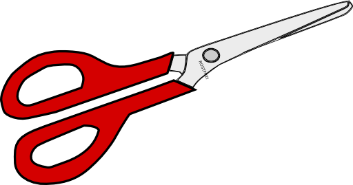 clipart black and white stock Scissors i royalty free. Scissor clipart