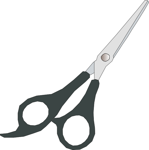 clipart black and white library Grey Scissor Clip Art at Clker