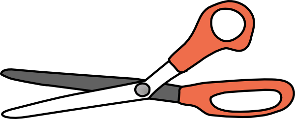 image royalty free library Open Scissors Large Border Clip Art at Clker