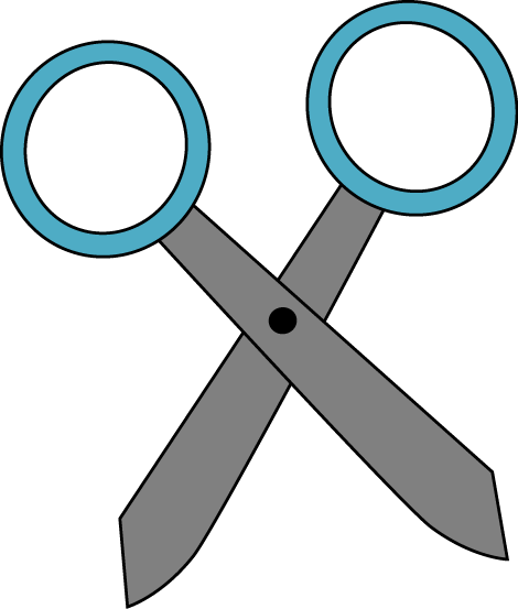 graphic freeuse library Blue Scissors