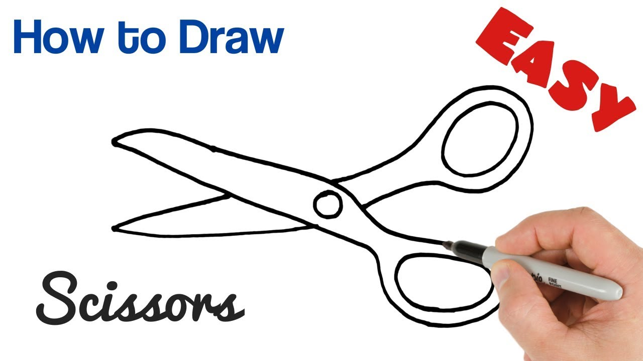 banner transparent download How to Draw Scissors Easy Art Tutorial