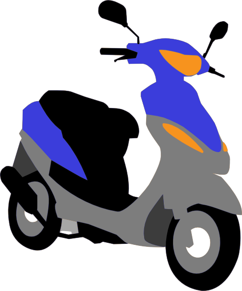 picture transparent . Scooter clipart