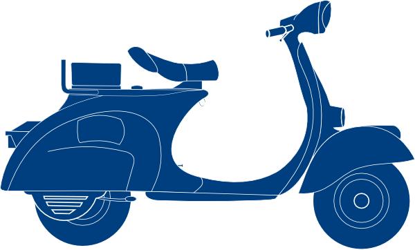 jpg freeuse Scooter clipart. Dark blue clip art.