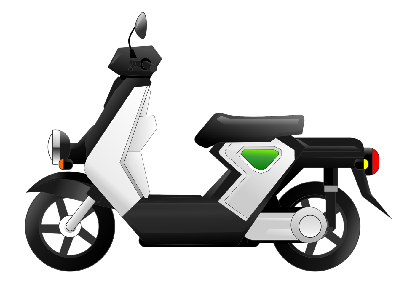 clipart black and white library Moped free on dumielauxepices. Scooter clipart
