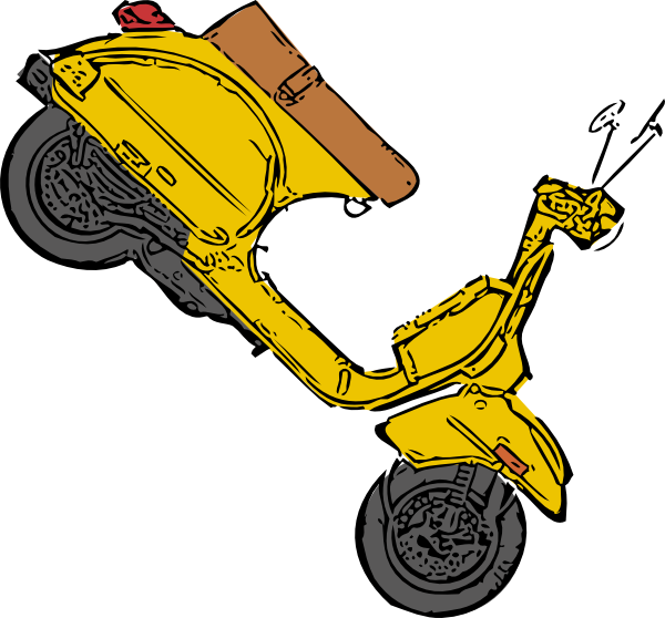 clip art black and white library Clip art at clker. Scooter clipart motor vehicle