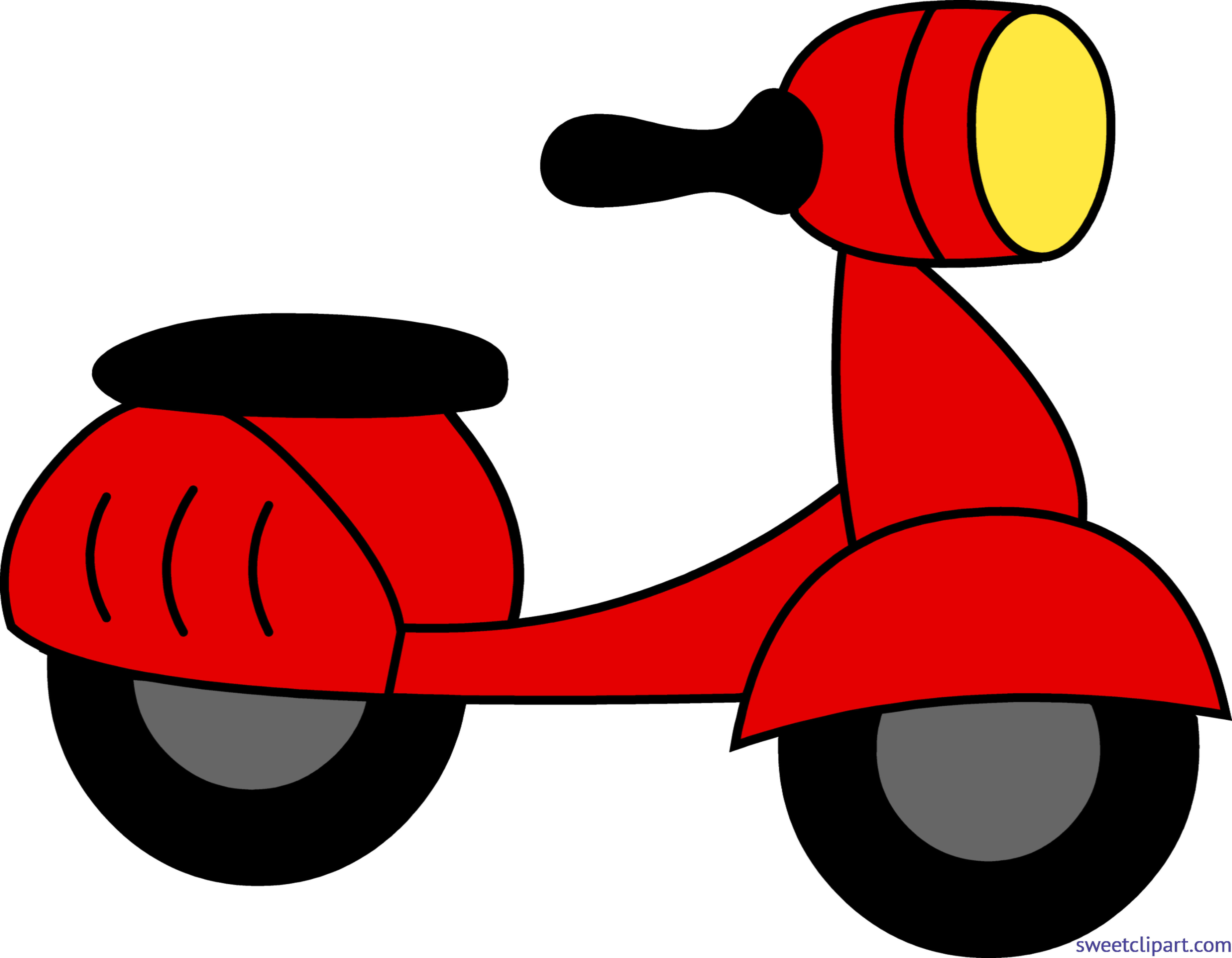 clip transparent download Scooter clipart motor vehicle. Red clip art sweet