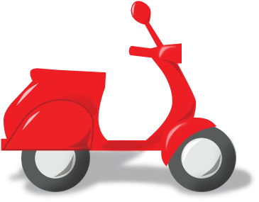 svg freeuse download Scooter clipart red scooter. And moped rentals honolulu