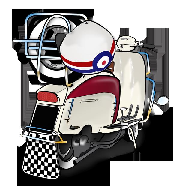 picture freeuse Mod and Scooterist artwork Lambretta