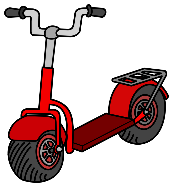 vector royalty free Kick scooter Razor Motorcycle Moped free commercial clipart