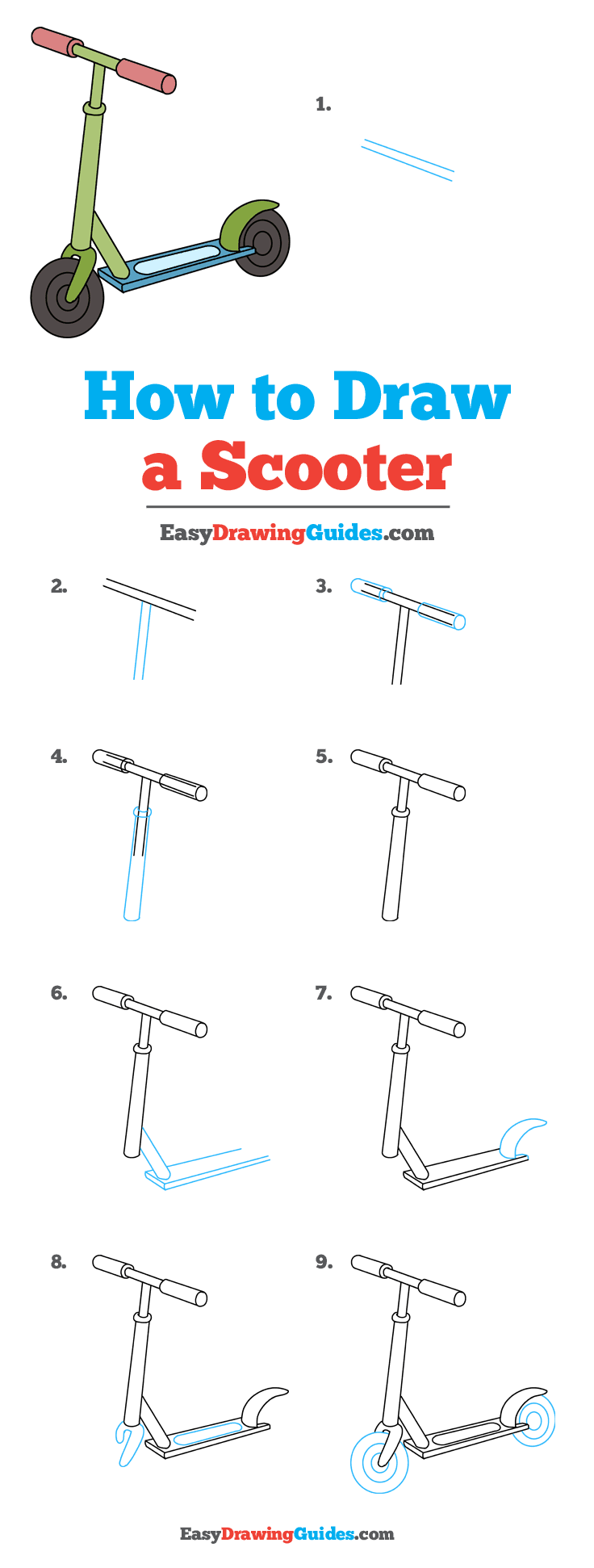 graphic free stock How to Draw a Scooter