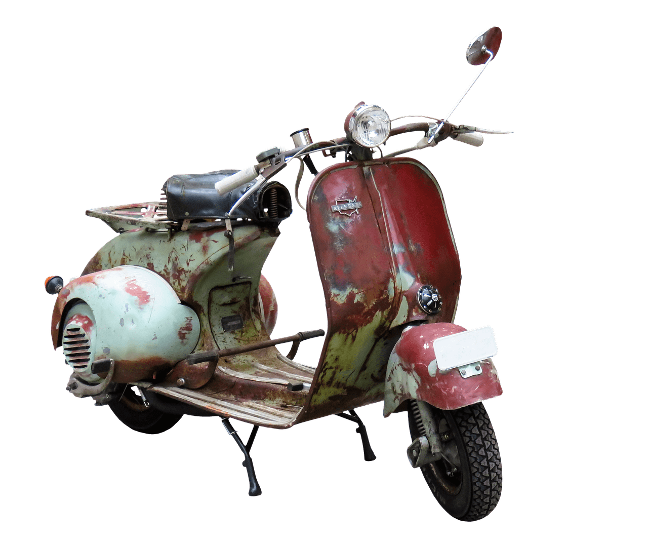 image library download Old Rusty Moped transparent PNG