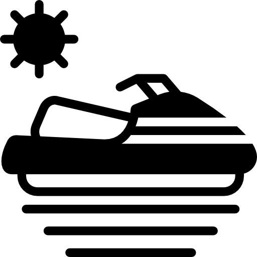 black and white stock Scooter Icon