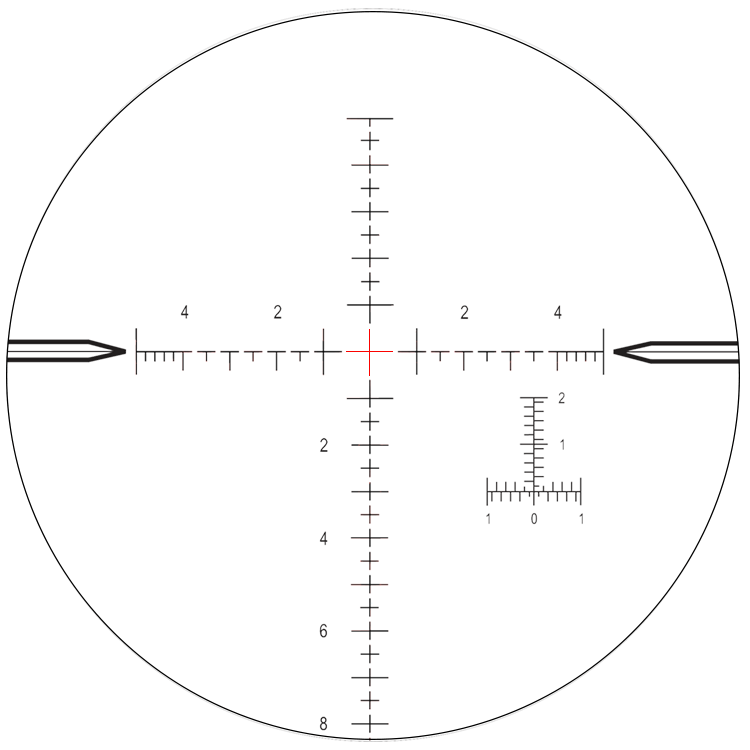 graphic black and white stock Scope Reticle Choices