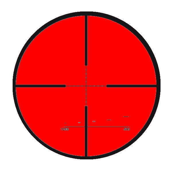 transparent sniper scope