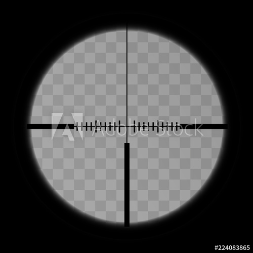 jpg library stock Realistic sniper scope crosshairs view