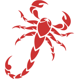 svg black and white download Persian red scorpion icon