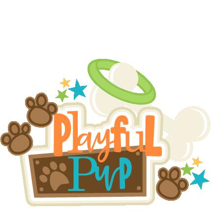 vector free stock Scrapbook clipart. Playful pup title svg.