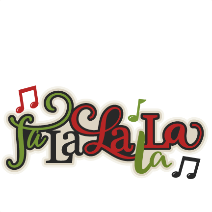 clip art royalty free Christmas fa la title. Scrapbook clipart.
