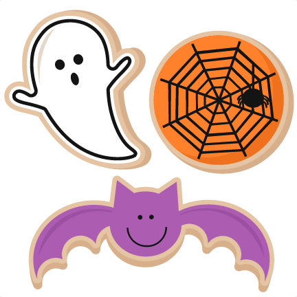 graphic transparent download Scrapbook clipart. Halloween cookies svg cut.