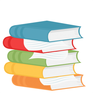 png library library Stacked school scrapbook title. Books svg