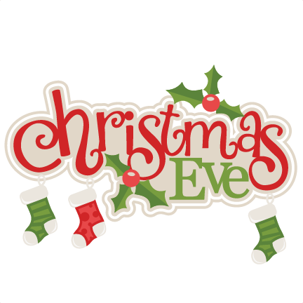 clip transparent stock Scrapbook clipart. Christmas eve title with.