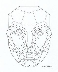 black and white Scratchpad drawing head.  best faces images