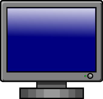 clip art black and white stock Screen clipart. Monitor clip art panda.
