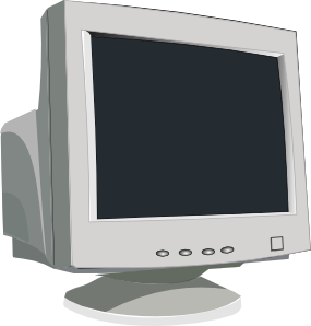 graphic transparent download Crt Tube Monitor Clip Art at Clker
