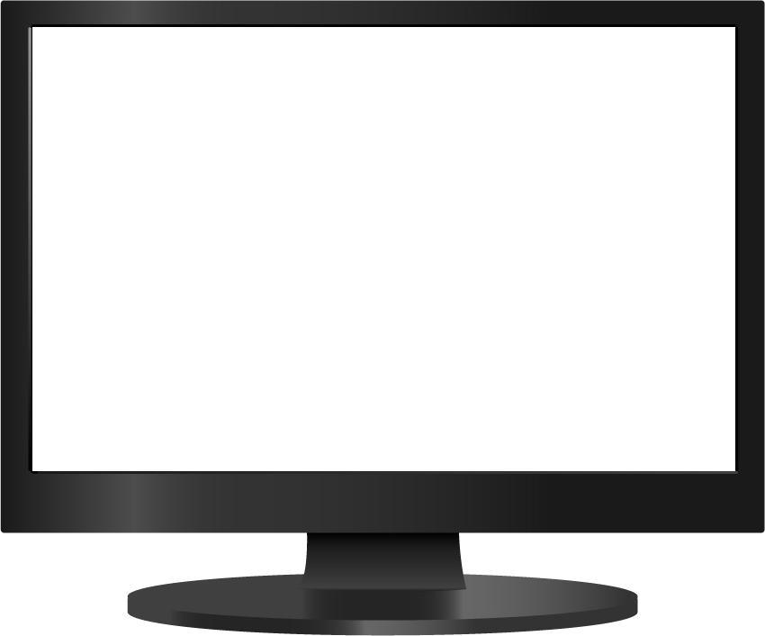 clip free stock Flat Screen Tv Transparent Background