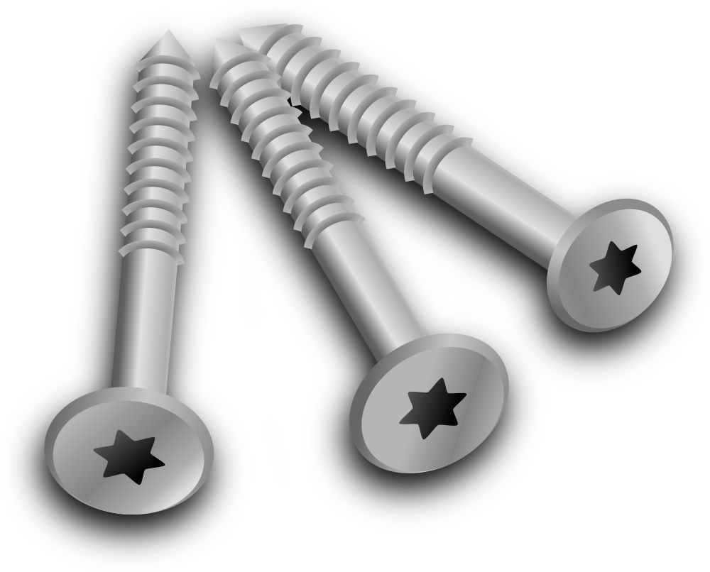 vector black and white download Screw clip. Onlinelabels art screws.