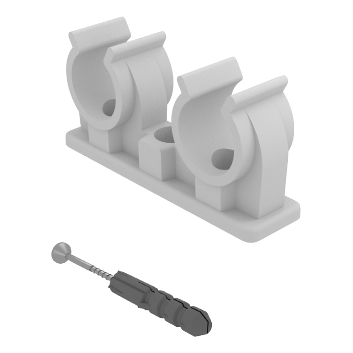 svg library Screw clip. Double pipe with and.