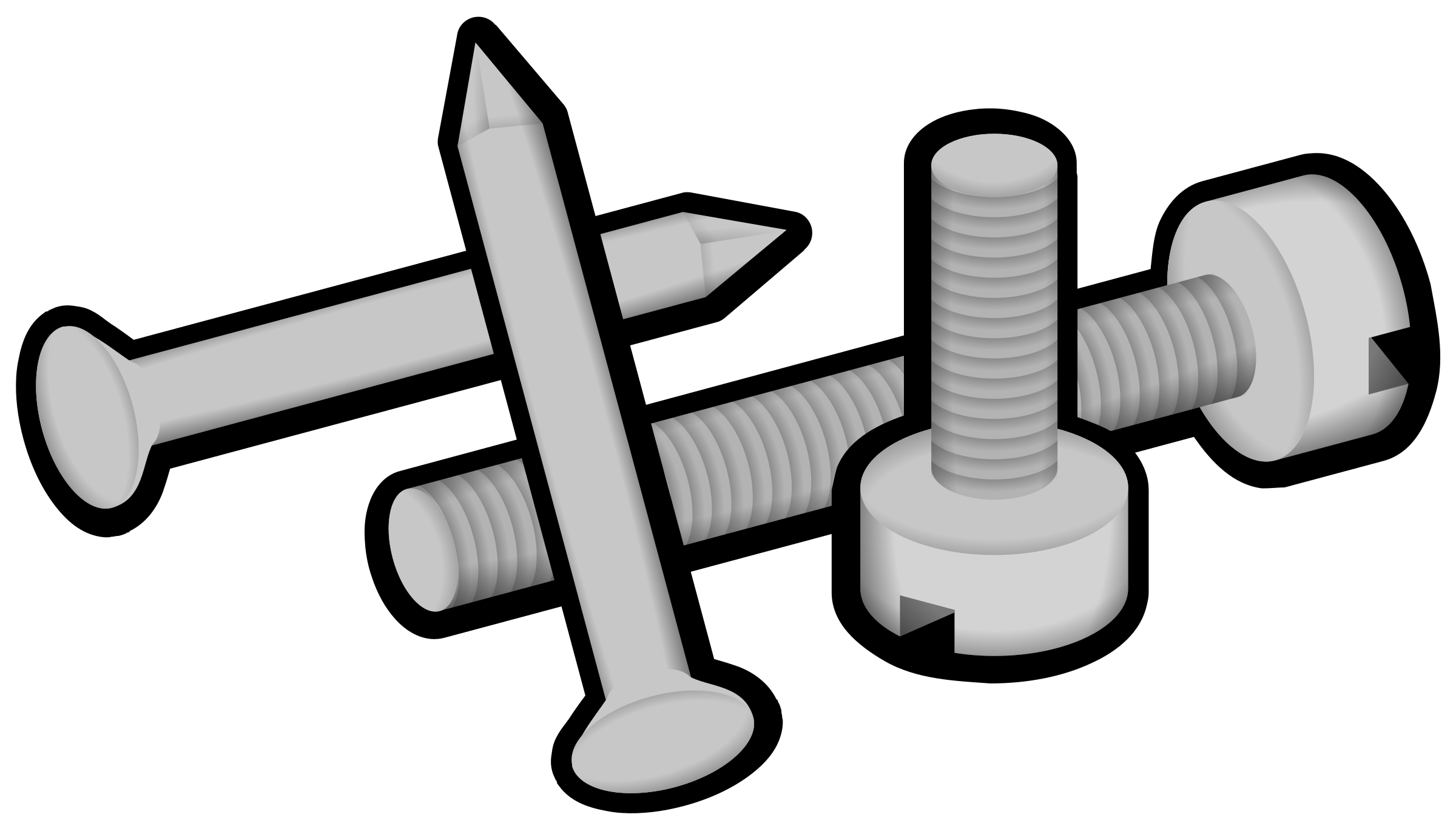 black and white library Screw clipart. Big image png.