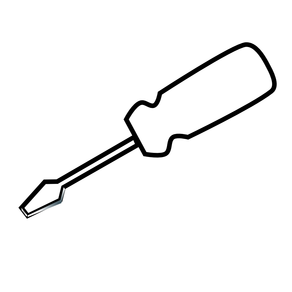 png free library Awesome Of Screwdriver Clipart Black And White